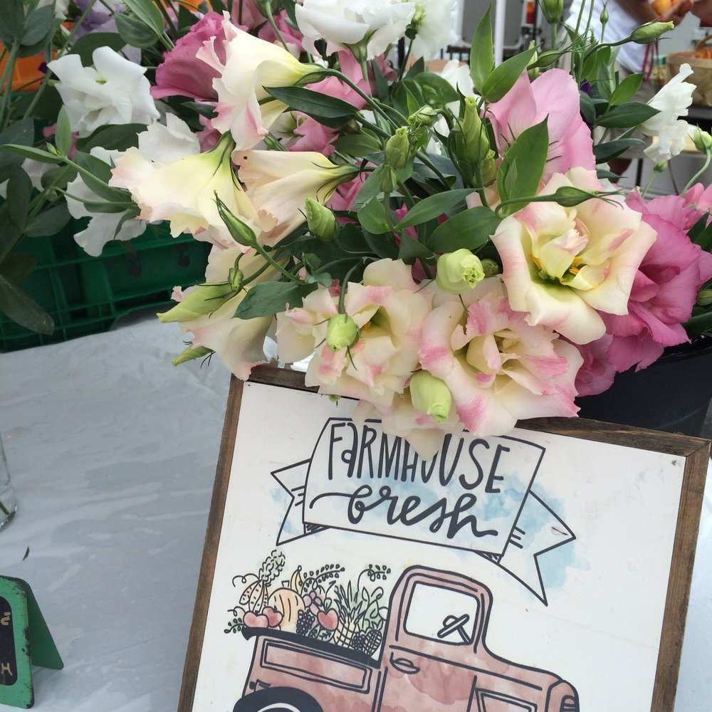 Lovely spring flowers from  Chippokes Creek Farm  in Surry, Virginia: you can find them at the  Smithfield Farmers Market