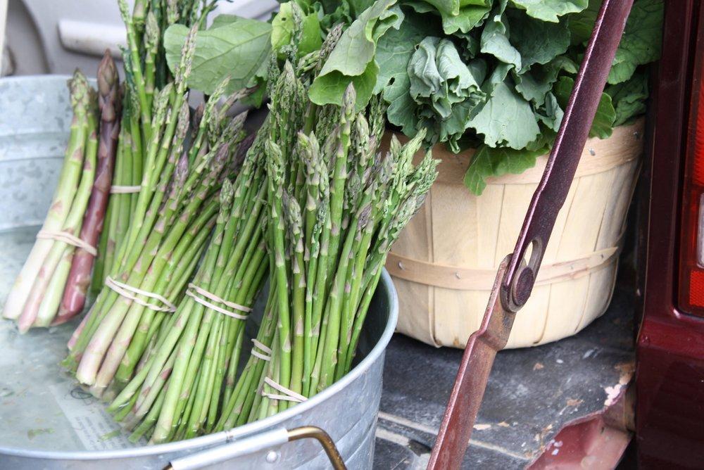 Lovely spring asparagus