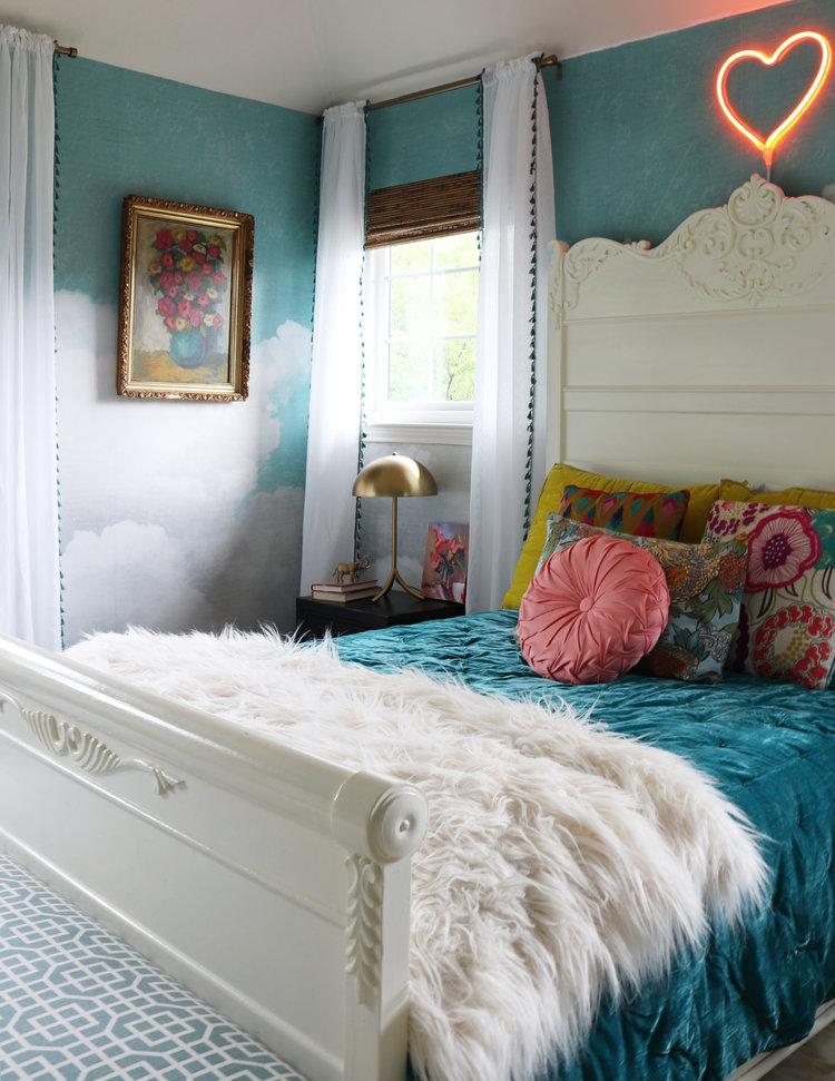 Tween Girl Bedroom Revamp with Rebel Walls — Kristin Laing Design