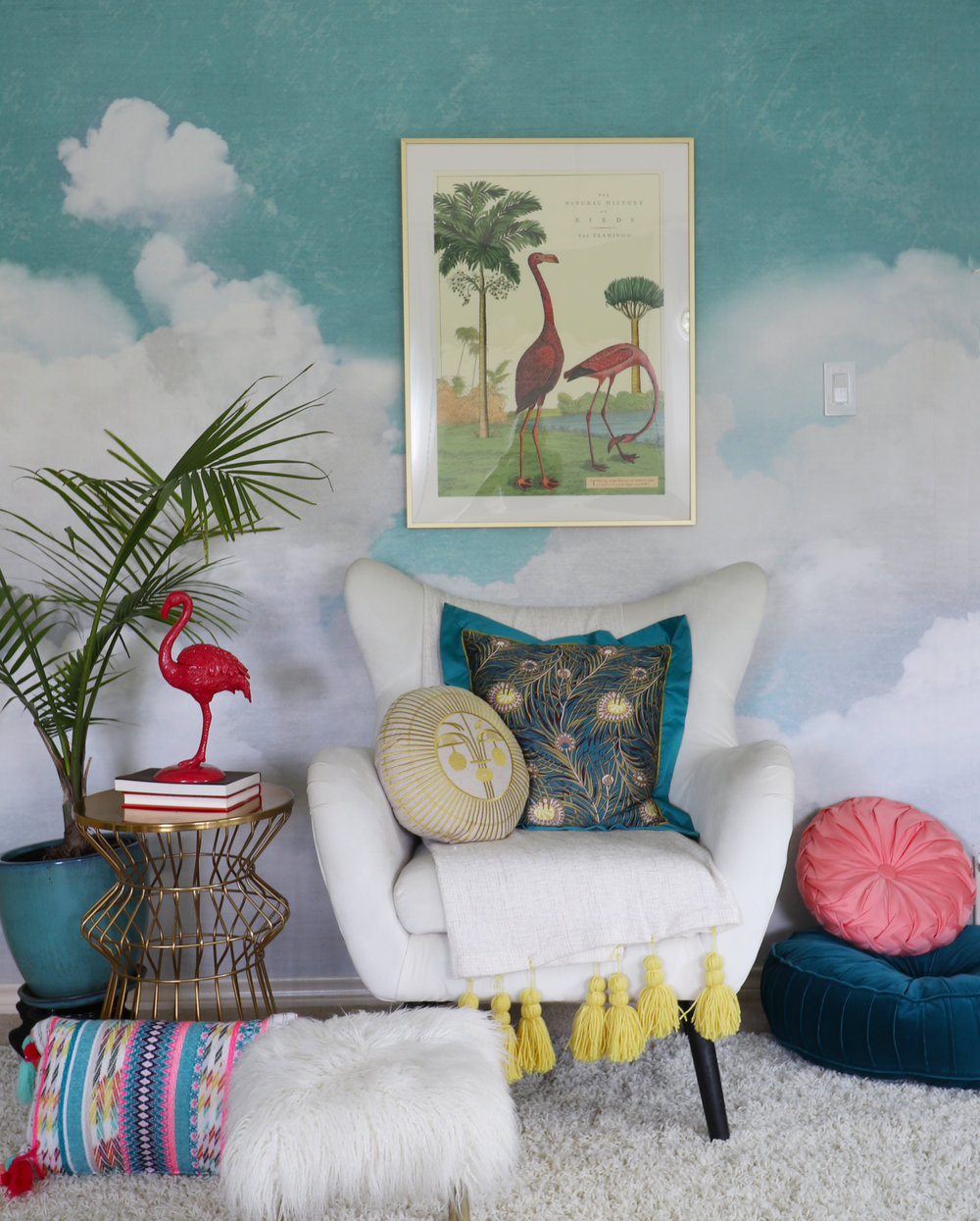 girls bedroom redesign with Rebel Walls cuddle clouds mural.jpg