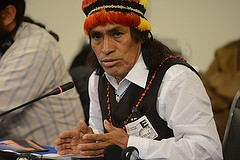 Indigenous Leader addressing the Commission (Photo by the Inter-American Commission on Human Rights) Indigenous Leader addressing the Commission (Photo by the Inter-American Commission on Human Rights)