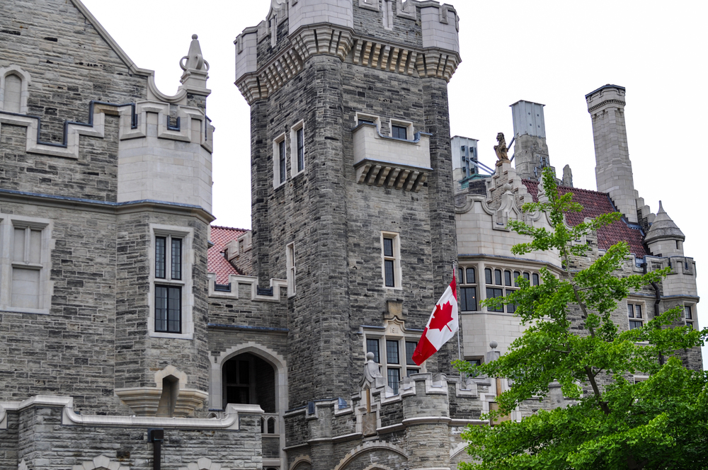 Casa Loma -  about 100 years ago  a rich guy in Toronto decided he wanted a castle. So he got a castle.