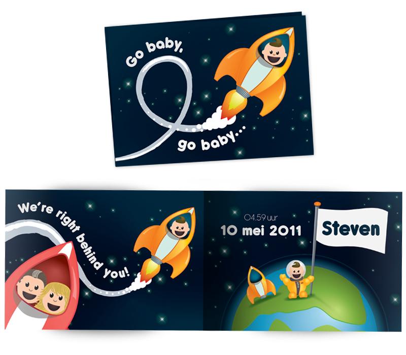 Geboortekaartje Steven