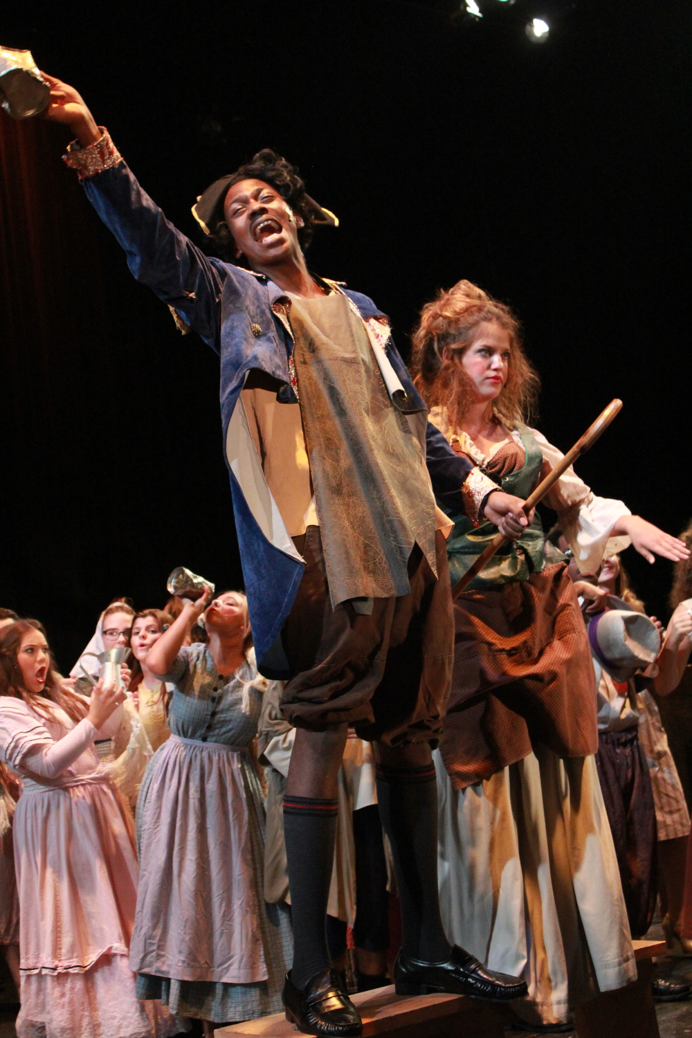 Neverson Cadesca and Charlesy Coyle as the Thénardiers in  LES MISÉRABLES