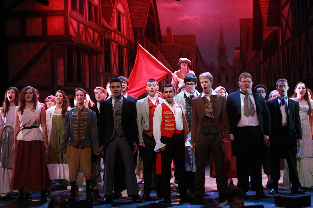 The cast of LES MISÉRABLES, August 2013