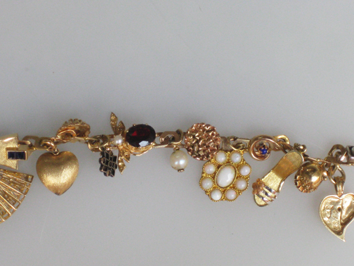 14kt and 18kt gold, diamonds, pear, $5000.00