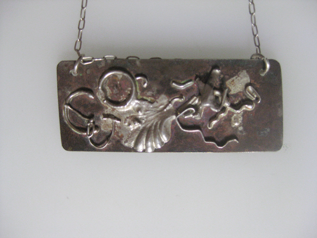 Patina on Sterling silver with fine silver $150.00