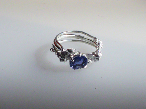 Bramble ring with iolite $200.00