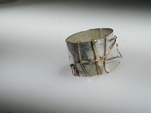 Gold twigs ring  $325.00
