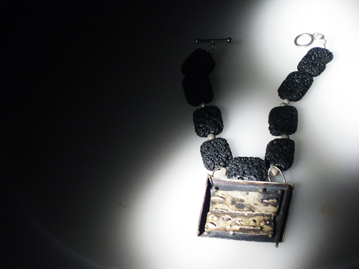 Cryptic Shield Necklace $250.00