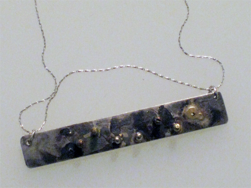 Bar of Water sterling silver and 18kt gold
