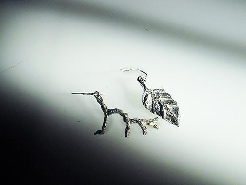 Leaf and Twig earrings $75