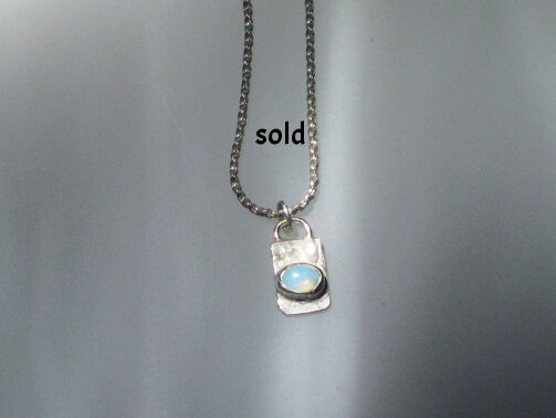 Sterling silver with opal SOLD