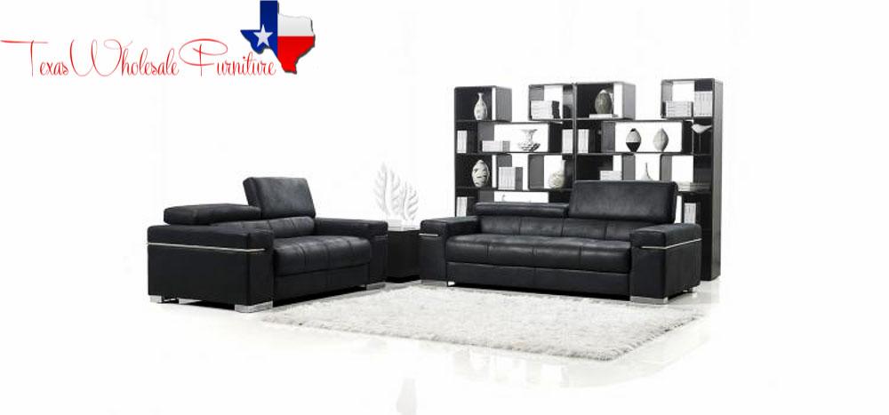 Black Italian Design Modern Sofa 34