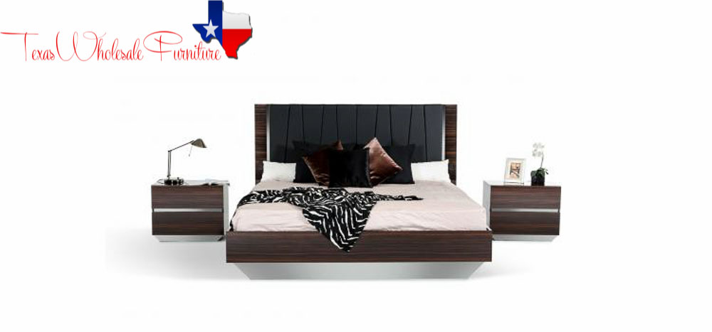 Italian Modern Ebony Lacquer Bedroom Set