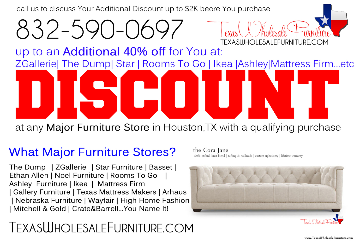 Discount At Any Furniture Store In Houston Tx Texas Wholesale