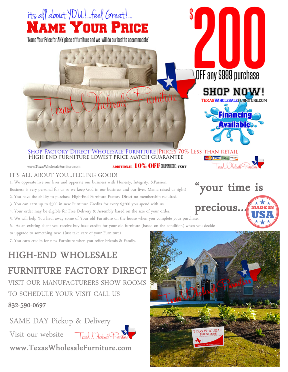 Why Buy Texas Wholesale Furniture?