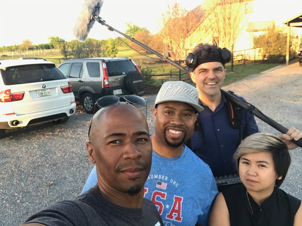 From left to right: Troy Jones, Tyrin Ford, David Birk, Kathy-Tran