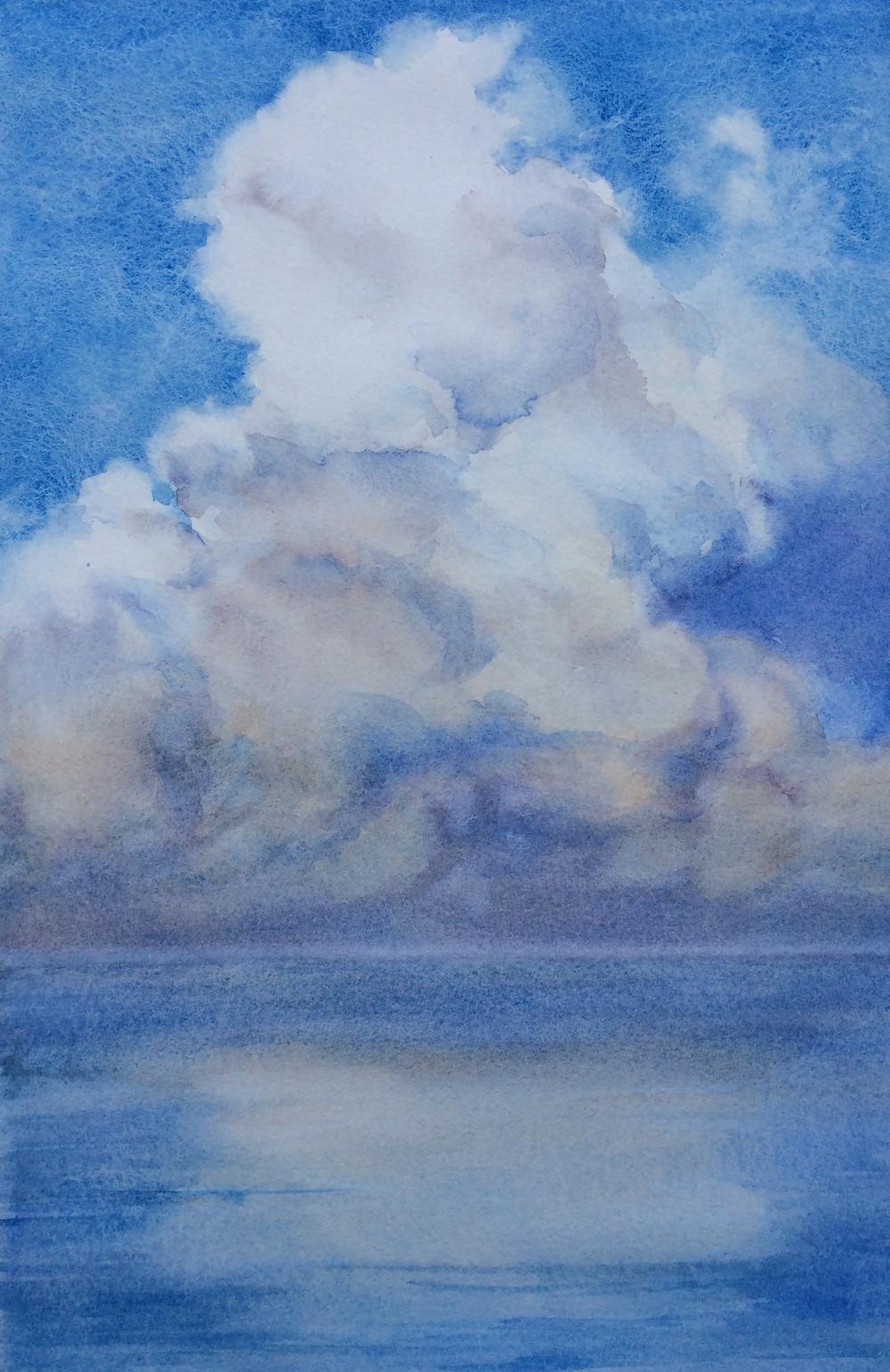 NC Wyeth clouds, Costa Rica