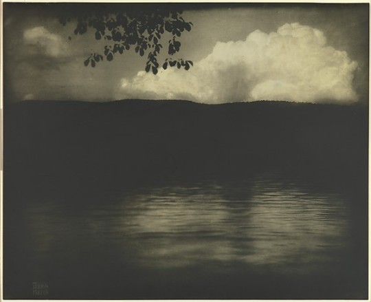 Edward Steichen. The Big White Cloud. Lake George. 1903.