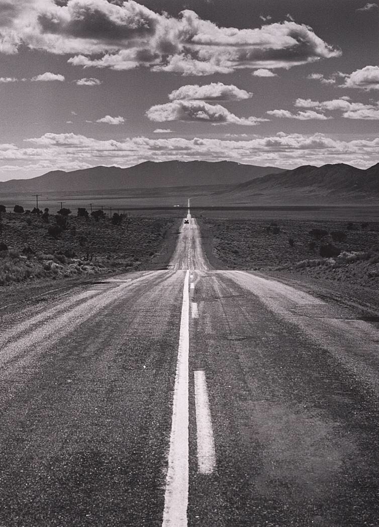 Desert Road, Nevada, 1960. Ansel Adams