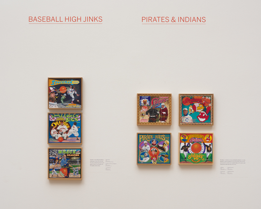 ∞ BASEBALL HIGH JINKS (view paintings)                 ∞ PIRATES & INDIANS (view paintings)
