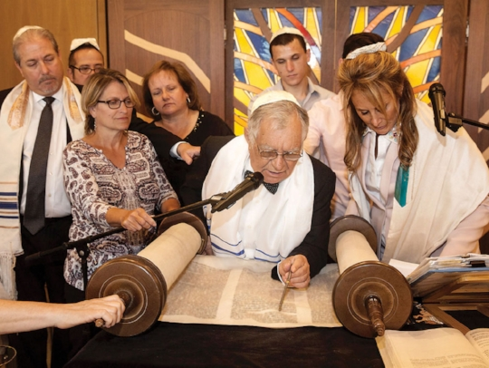 Click here to view the Jewish Journal article about our new torah and the Bar Mitzvah of Abe Teitman Photograph by Yona Engel