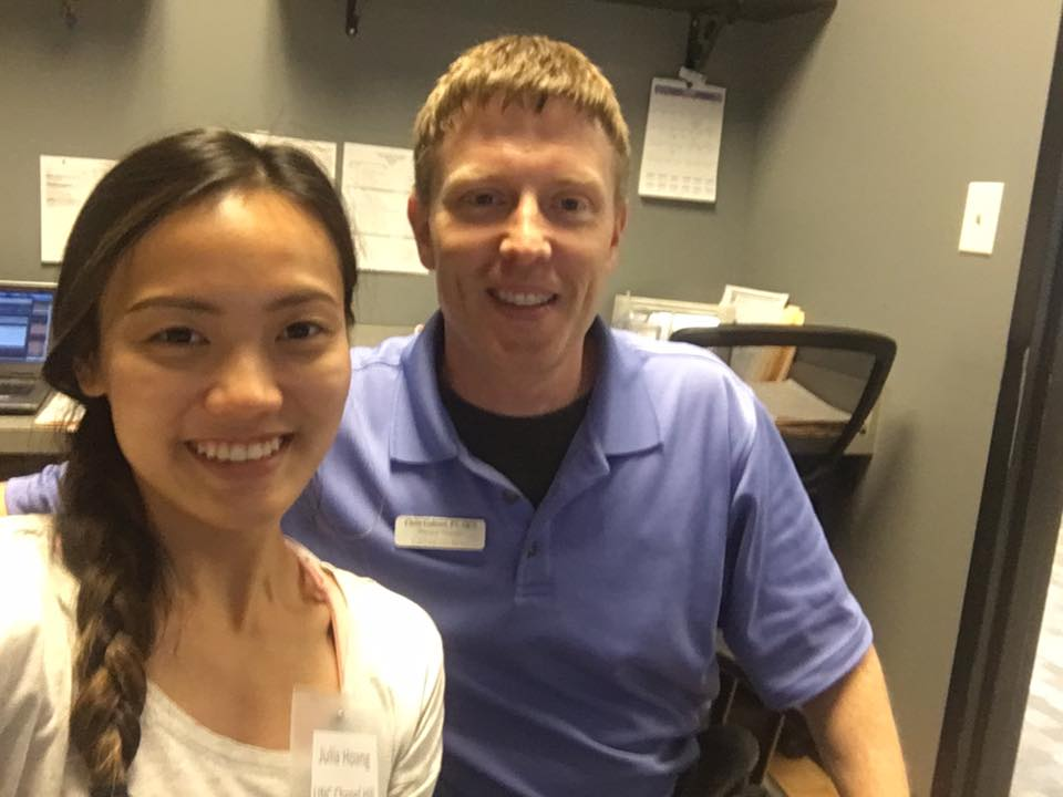 Julia Hoang  -   Physical Therapy  Medical School:   University of North Carolina at Chapel Hill  Preceptor:  Mike Magalski, DPT  NDSI Location:  Randolph Sports Physical Therapy - OrthoCarolina