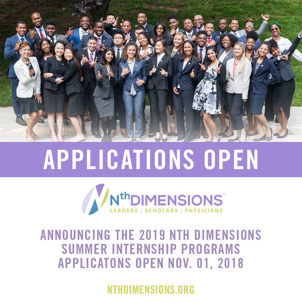 If you are interested in applying for the Nth Dimensions Summer Internship this is what you need.. - APPLICATION REQUIREMENTSCurriculum Vitae, Short Video, Transcript, Letter of Good Standing, 2 Letters of Recommendation, Recent Photo.