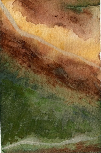 """Landscape Of Stone 03"" (4x6) Watercolor - $165"