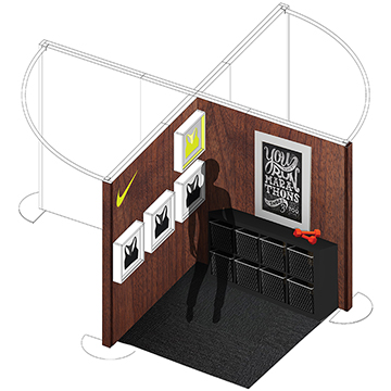 Initial footprint concept designed by On Board Experiential