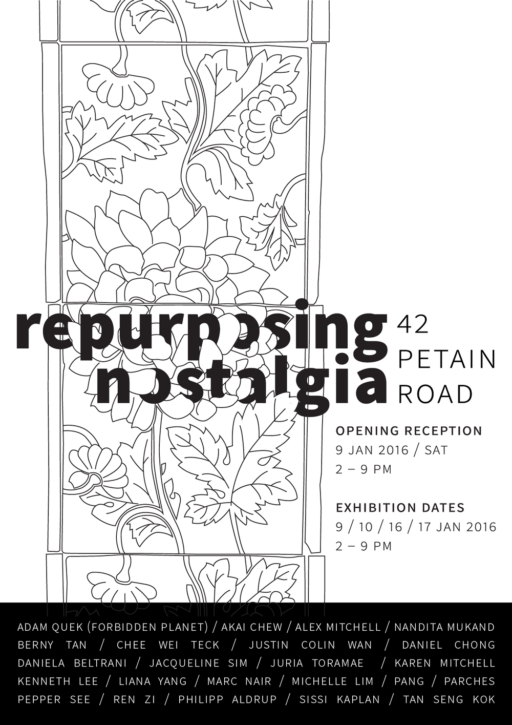 Repurposing Nostalgia  Exhibition Poster