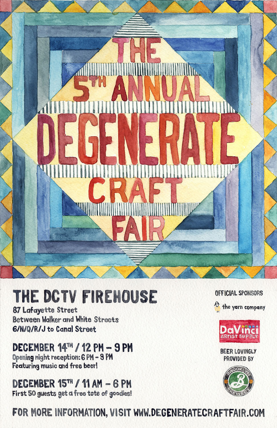 Poster for The 5th Annual Degenerate Craft Fair in 2013