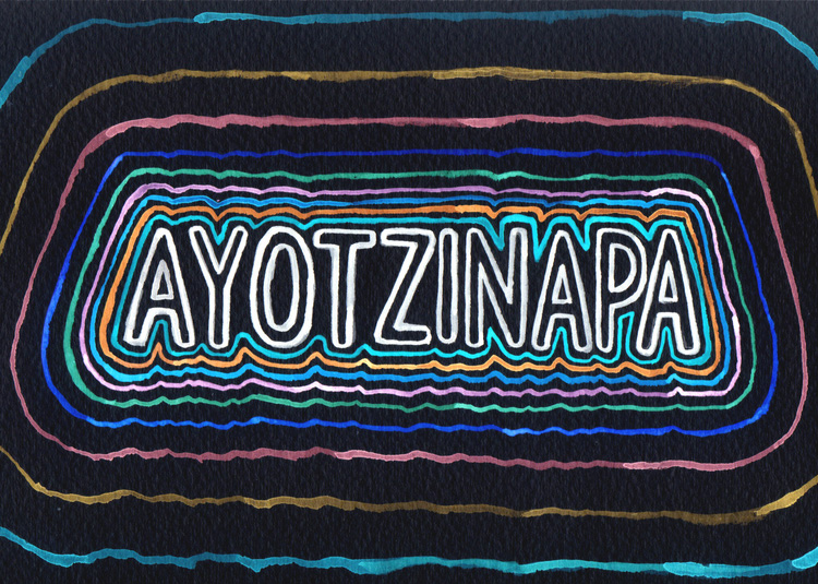 Illustration for  Asymptote 's 'Say Ayotzinapa' initiative