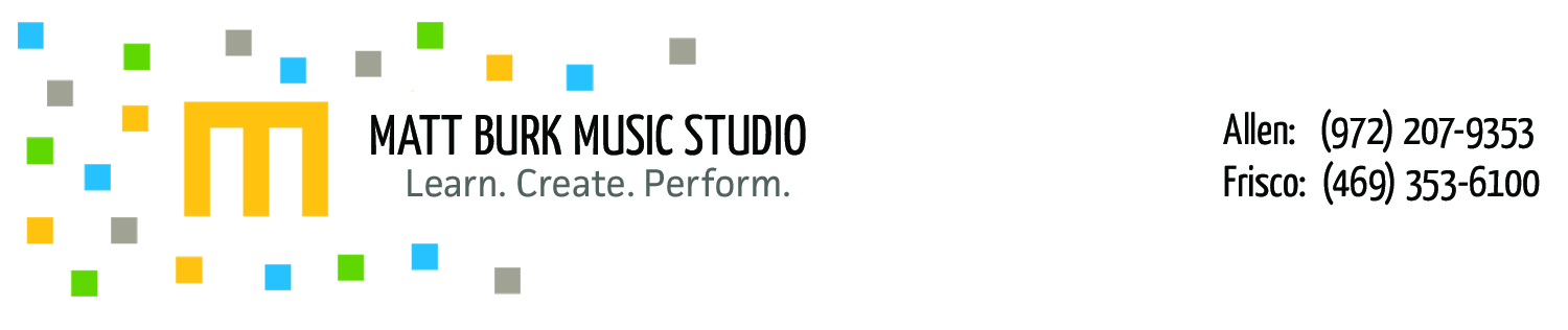 Matt Burk Music Studio - Music Lessons In Frisco, Texas & Allen, Texas: Piano, Drums, Bass, Guitar & Voice