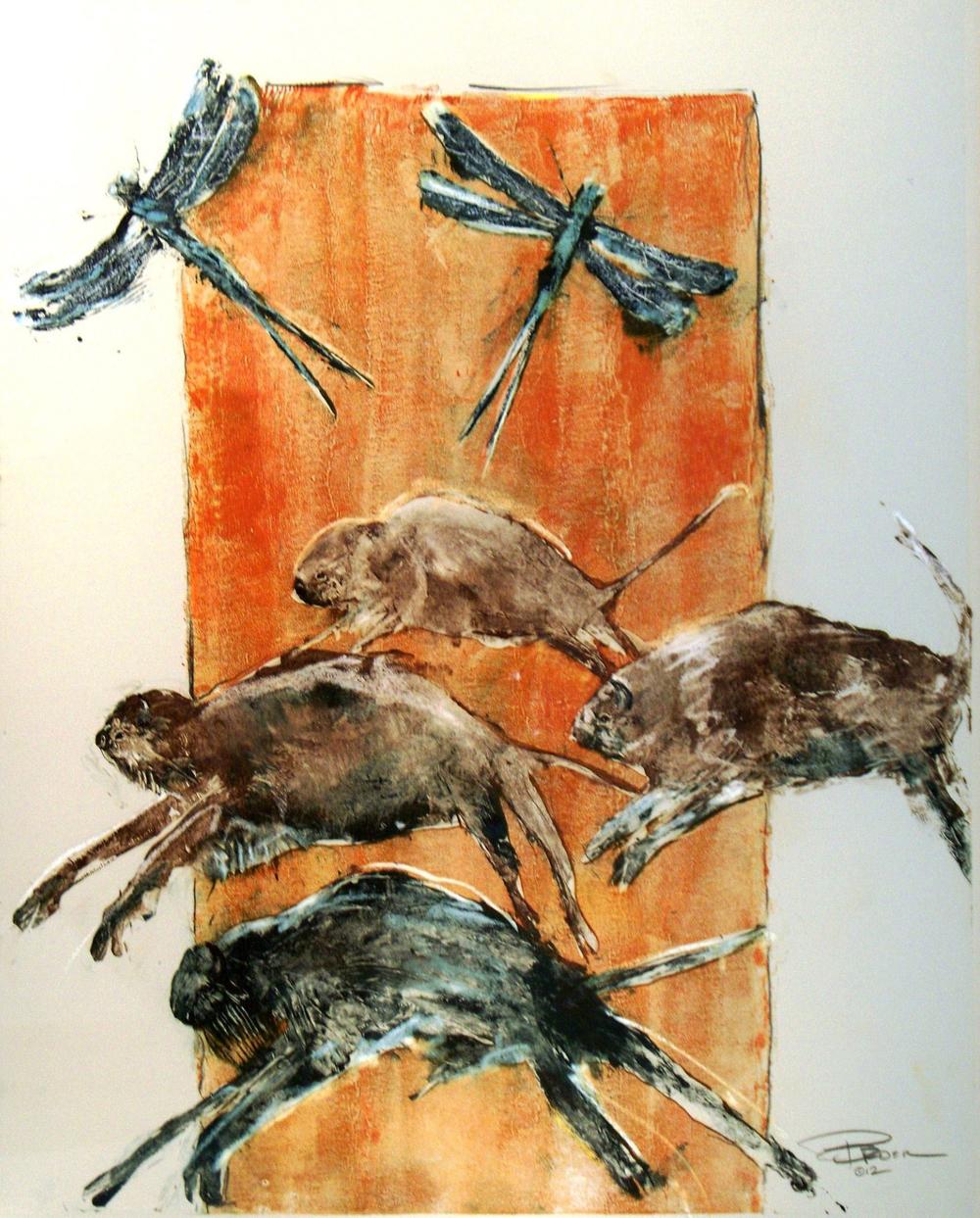 Roger Broer 'August Heat' Monotype 2012