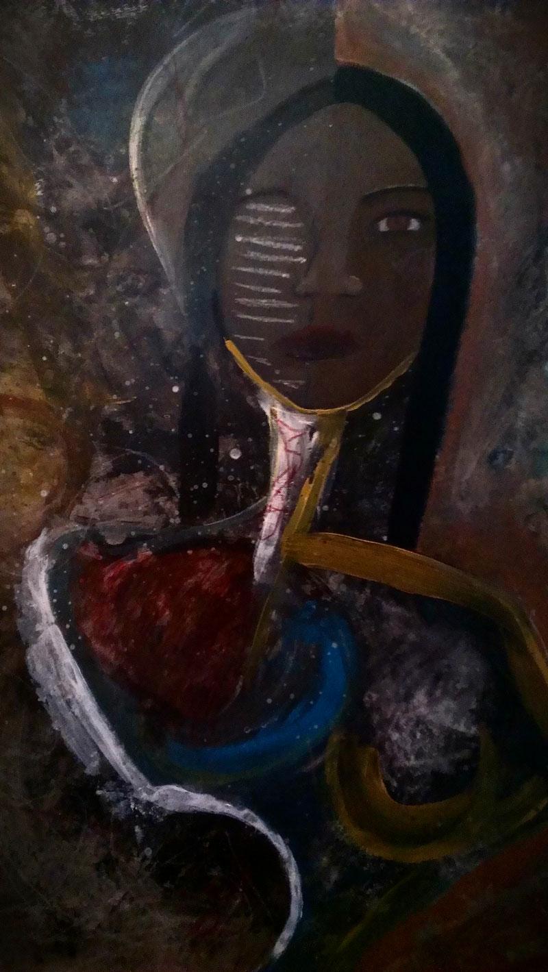Jennifer White 'Surreal' Acrylic on Masonite 2014
