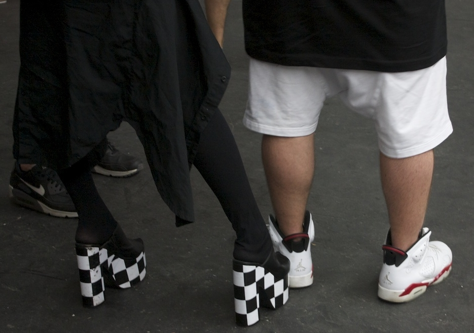 Living for these checkered heels.