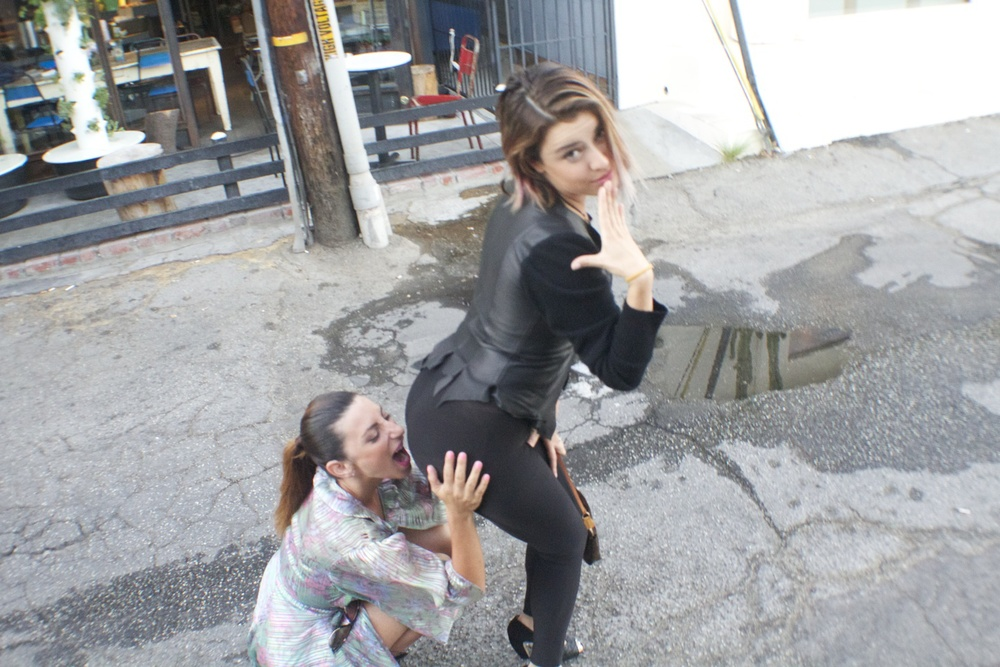 Girls just wanna have fun.... Harstylist  Sara Tintari  and Makeup Artist  Daniela Grasso .
