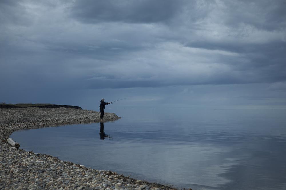 Fishing on the Beaufort Sea