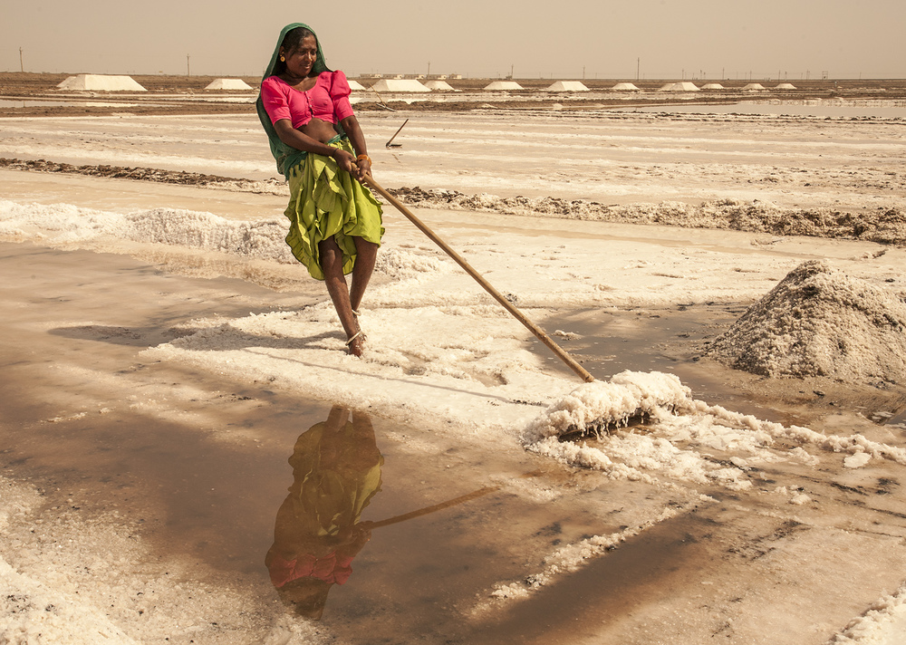Little Rann salt mine, Gujarat, India