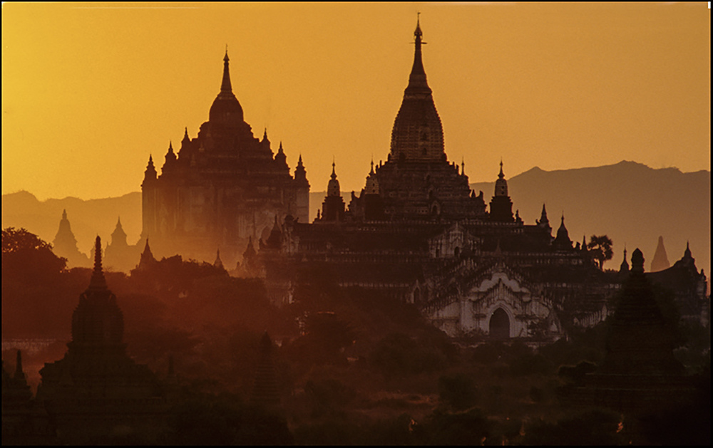 Sunrise from Okkyaunpgyi Temple, Myanmar