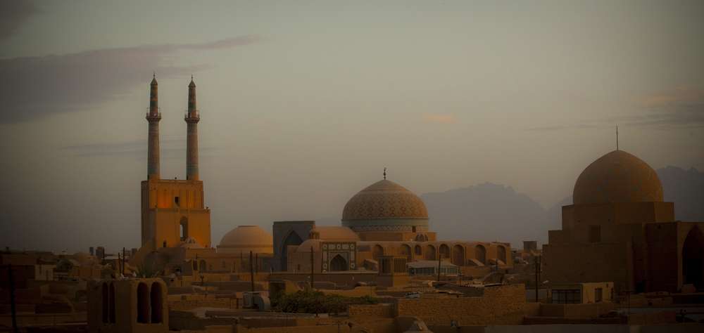 Yazd at sunset