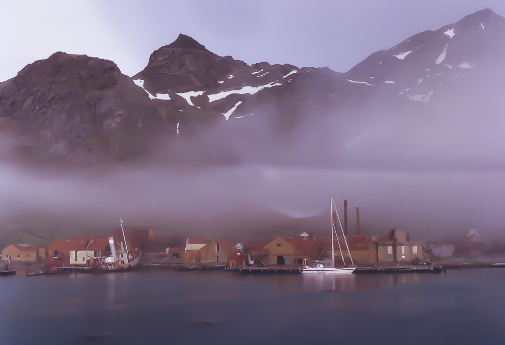 Grytviken: abandoned whaling station in South Georgia