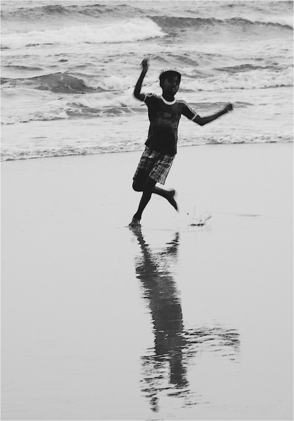 Running on the Beach, India