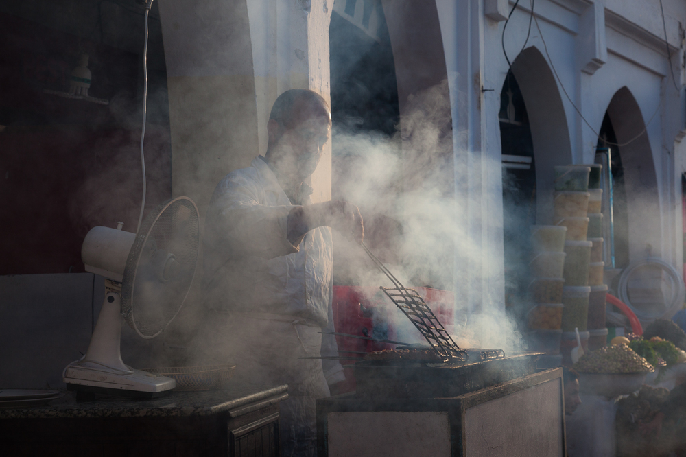 Kebab vendor, Moulay Idriss