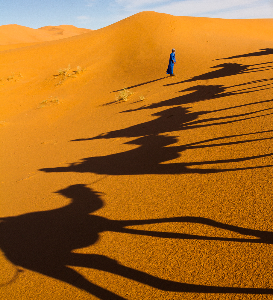 In the dunes, Erg Chebbi