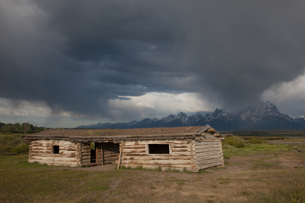 Storm over the Tetons at Cunningham Cabins