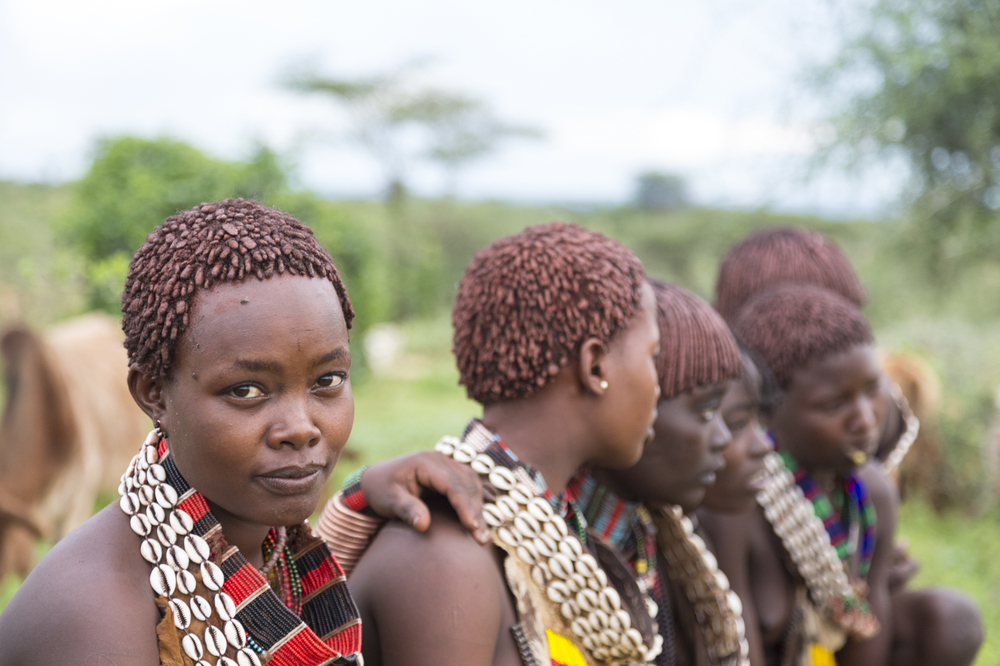 Hamar women, Omo Valley