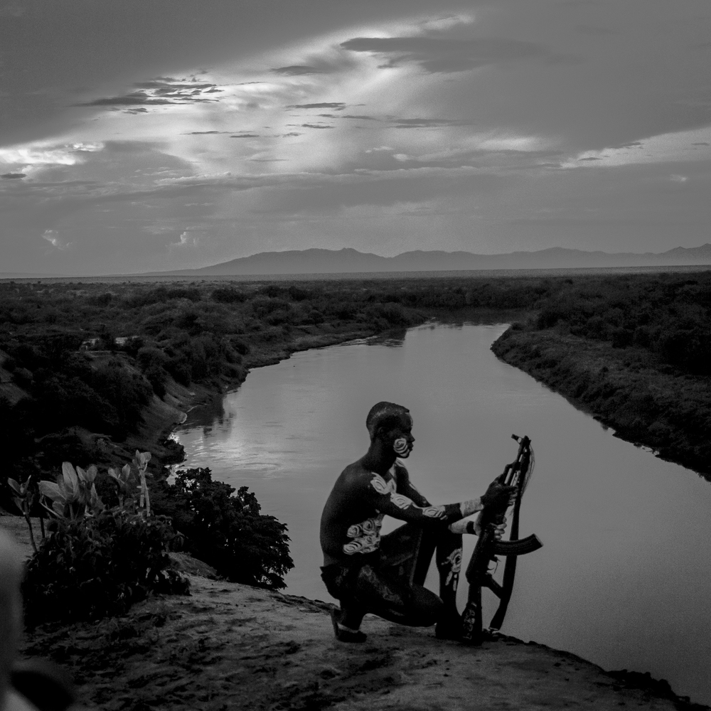Young Kara man, Omo river